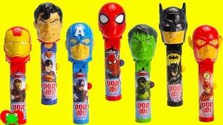 SUPERHERO Lollipop Ups Candy Dispensers and Surprises