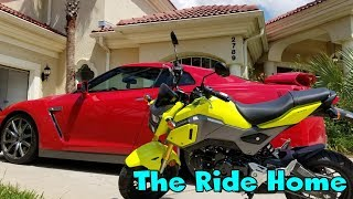 2018 Honda Grom First Ride! Let's take her home.