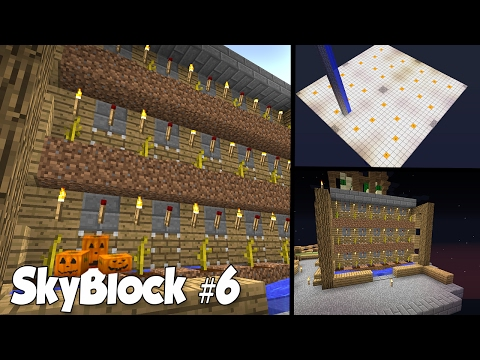SkyBlock #6: Ферма Арбузов, Ферма Тыкв и начало Фермы Слизи!