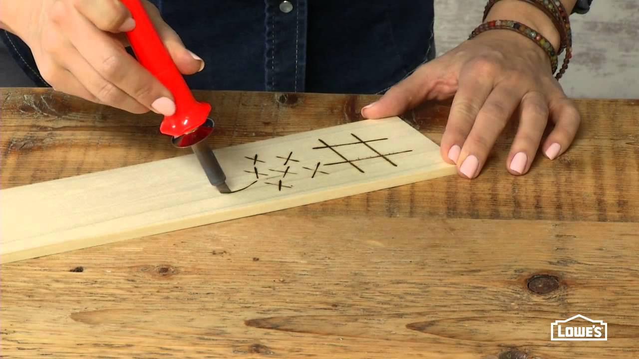 How to wood burn youtube