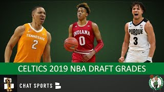 Celtics Draft Grades From The 2019 NBA Draft On Romeo Langford, Grant Williams & Carsen Edwards