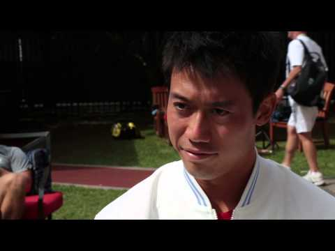 US Open 2014 Kei Nishikori Interview Saturday