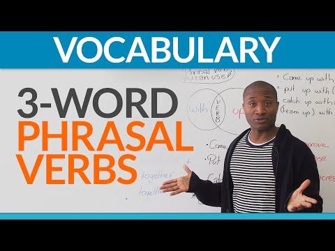English Expressions: three-word phrasal verbs