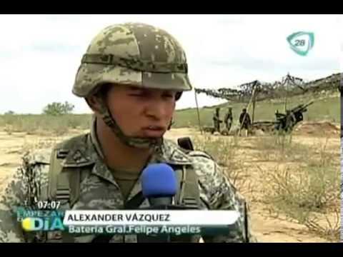 Entrenamiento militar del ejercito mexicano vivo