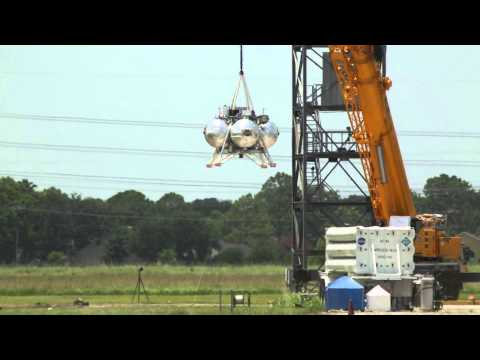 Morpheus Lander - Hot Fire Tether Testing | NASA Space Science Video