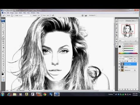 Photoshop tutorial how to make sketch using image photoshop