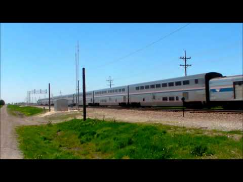 BNSF LINE IN EARLVILLE IL AMTRAK