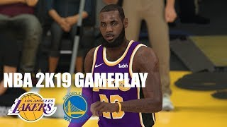 NBA 2K19 Xbox One X Gameplay: Lakers vs. Warriors