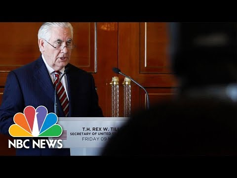 Secretary Rex Tillerson Explains How North Korean 'Talks' Differ From 'Negotiations' | NBC News
