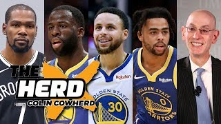 Colin Cowherd - Why Kevin Durant Left The Warriors, Steph's Injury & Load Management