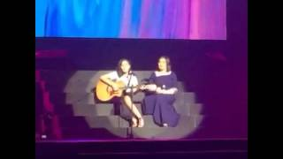 MegaStar Sharon Cuneta and daughter Frankie performing the OPM hit, Mr.DJ