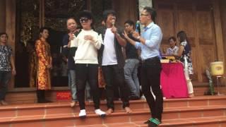 Vũ Hà 'tái xuất' hát live cực đỉnh tại nhà thờ tổ Hoài Linh