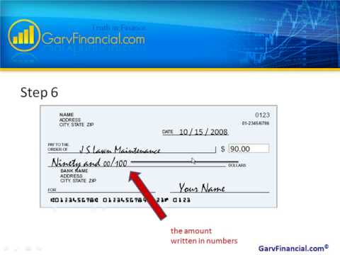 How to Write a Check for Cents Only