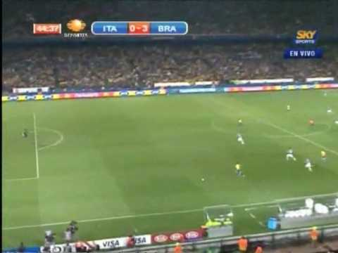 Brazil vs Italy (3 - 0) FIFA Confederations Cup South Africa 2009
