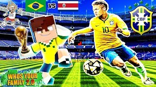 WHO´S YOUR FAMILY: O NEYMAR ME ADOTOU E ME LEVOU PARA COPA DO MUNDO NO MINECRAFT  (world cup 2018)