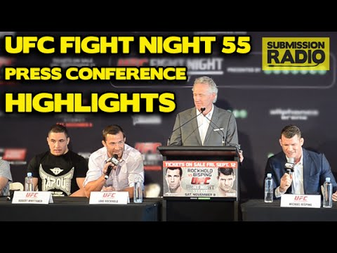 Michael Bisping & Luke Rockhold rip into each other at UFC Fight Night 55 Press Conference