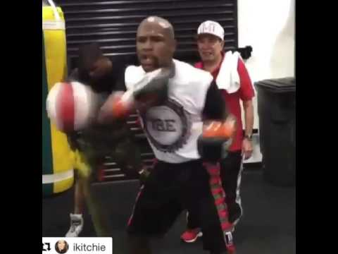 Floyd Mayweather Amazing Skills Never Misses A Single Punch! esnews boxing