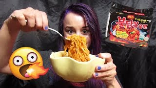 SPICY KOREAN FIRE NOODLE CHALLENGE! | Mukbang