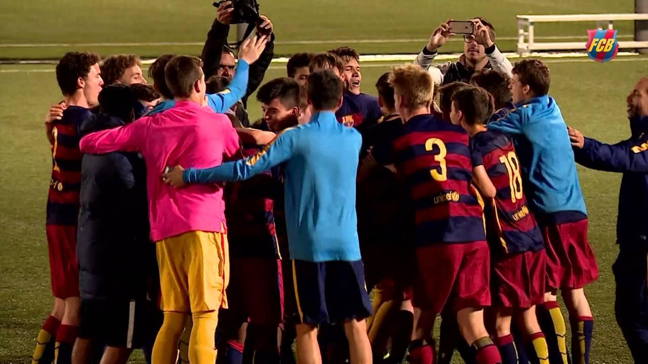 FCB Masia: El Cadet A guanya la Lliga amb autoritat