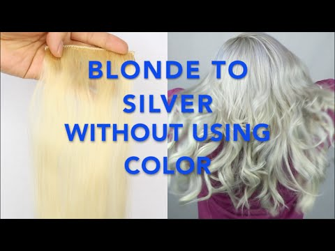 BLONDE to SILVER hair WITHOUT using COLOR! [Fanola No Yellow Shampoo]