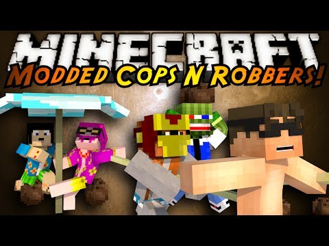 Minecraft Mini Game : MODDED COPS N ROBBERS TROPICRAFT