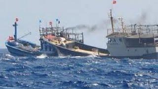 2 tàu Trung Quốc bao vây, đâm chìm tàu cá Quảng Ngãi