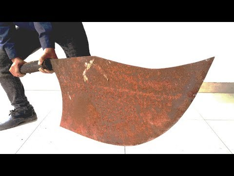 Restoration rusty handmade giant knife  | Restore big knife old rusty thumbnail