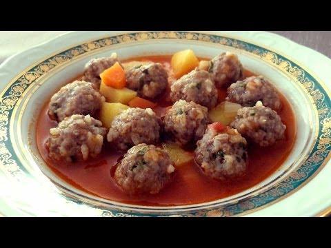 Рецепт варёных фрикаделек с овощами