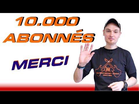 10.000 Abonnés à Ma Chaîne Guitare Merci!