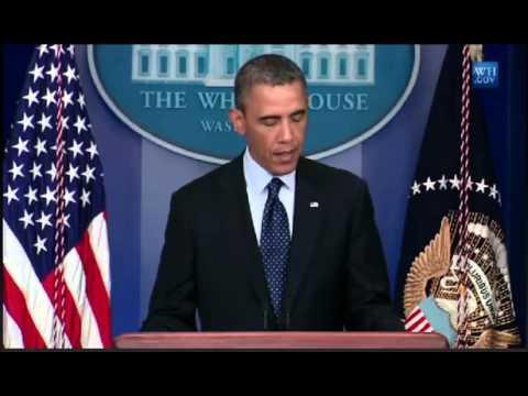 President Barack Obama Speaks On Bombing At Boston Marathon 15/04/2013