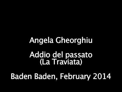 Angela Gheorghiu - Addio del passato - Concert in Baden Bade, February 2014