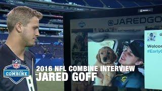 Jared Goff (Cal, QB): Dog Lover, Ghostbuster & Winner | 2016 NFL Combine Interviews