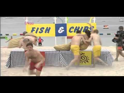 The One Show Alex Jones yellow bikini in beach