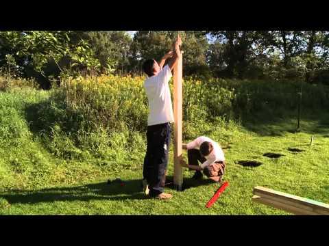 Sichtschutz Zaun aufbauen und montieren Schritt-für-Schritt