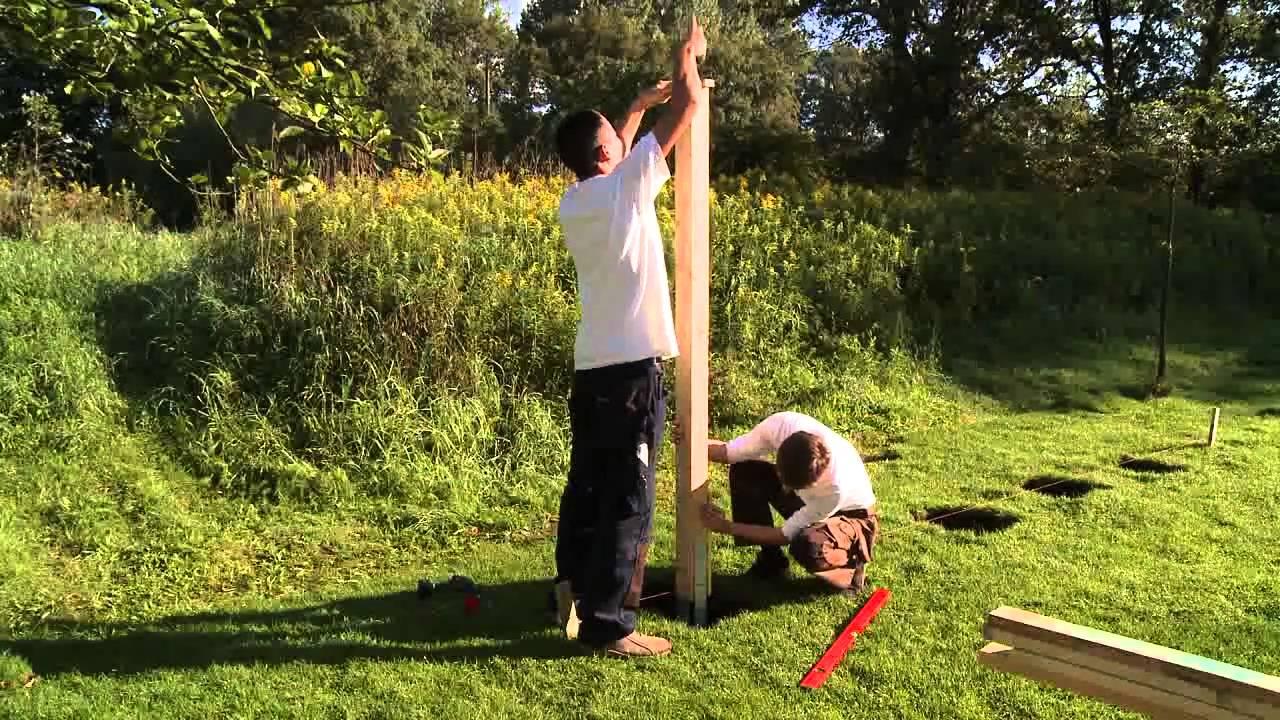 Sichtschutzzaun Holz Montieren