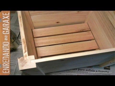 Como hacer un macetero con madera de palet parte 1 make - Maceteros de madera ...