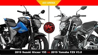 2019 Suzuki Gixxer VS Yamaha FZS V3.0 - Specification Comparison.