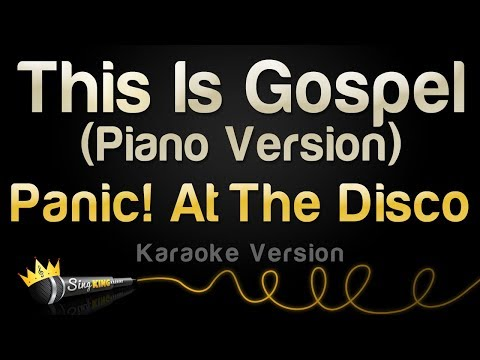 Panic! At The Disco - This Is Gospel (Piano) (Karaoke Version)