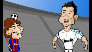 Footy Toons:Messi and Ronaldo at juggling the ball