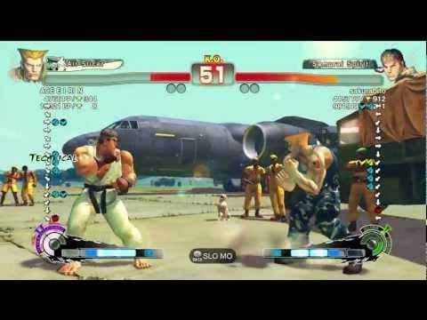 Guile(ACE E I RI N) VS Ryu(Sakurabito)