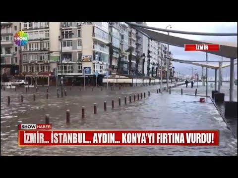 İzmir... İstanbul... Aydın... Konya'yı fırtına vurdu!