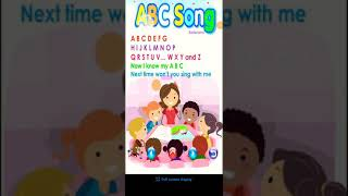 ABCD song for kid and mom