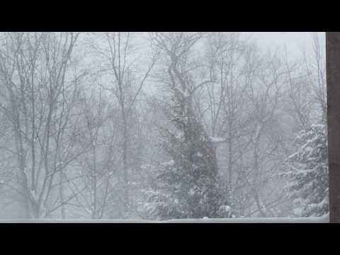 Central PA Blizzard with Skywarn Radio Audio