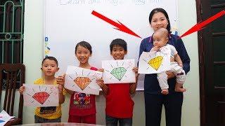 Tony bin go to school Learn colors with Diamond! Baby Read Colors School fun