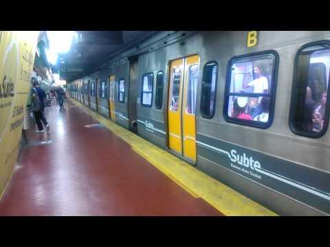 Subte Línea D - Cruzada de Alstom Metropolis en est. S. Ortiz
