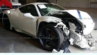 Ferrari 458 Wrecked rebuild From Auction