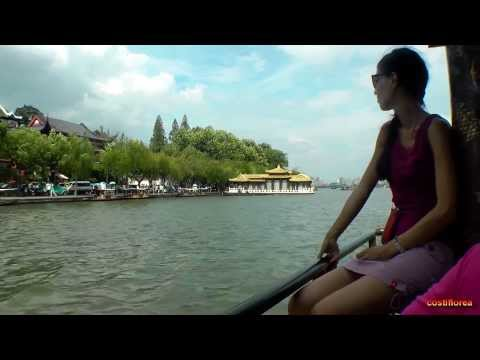 Hangzhou - Boat cruise on West Lake - Trip to China part 42 - Full HD travel video