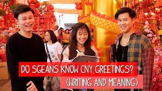 Do Singaporeans know how to write CNY Greetings? (And Meaning) | TMTV
