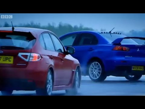Mitsubishi Evo vs. Subaru Impreza - Top Gear - BBC