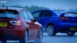 Mitsubishi Evo vs. Subaru Impreza - Top Gear - BBC